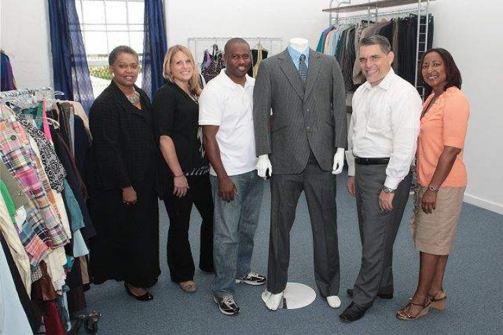 Pictured from left to right are the centre's Rosana Vickers, Cell One HR Manager Rachael Rance, the centre's Programme Manager Darius Richardson, Cell One CEO Frank Amaral and the centre's executive abuse Laurie Shiell